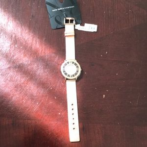 NWT New York & co rose gold watch